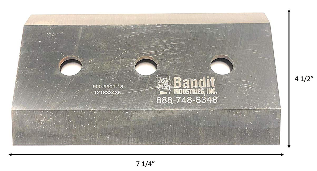 "Bandit® Parts Knife 5/8"" Bolt Hole x 1/2"" Thick x 7-1/4"" x 4+1/2"" - 900-9901-18"