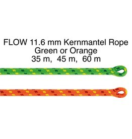 Petzl FLOW 11.6 mm low stretch Kernmantl Rope