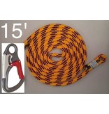 @ HEIGHT Blaze 15' single positioning lanyard, SH901 Snap & Sewn End
