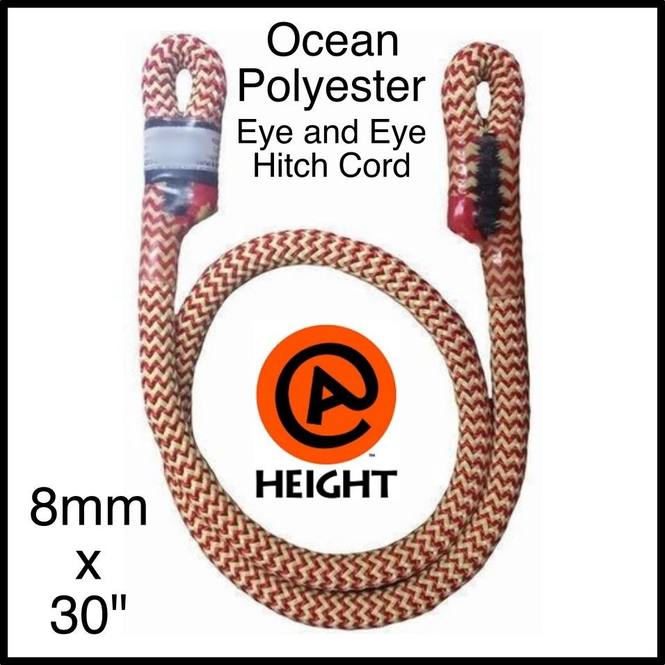 "@ HEIGHT Ocean Polyester 8mm x 30"" Eye and Eye, Sewn"