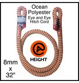 "@ HEIGHT Ocean Polyester 8mm x 32"" Eye and Eye, Sewn"