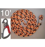 @ HEIGHT Safety Blue Positioning Lanyard 10' with SH901 Snap & Sewn Eye