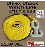 "Yale Cordage Ultrex Chook Winch Line 5/16"" x 200' - 2,200 WLL"