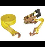 "Buyers RATCHET STRAP 2"" x 27' J-Hooks, 3,300# W.L.L."
