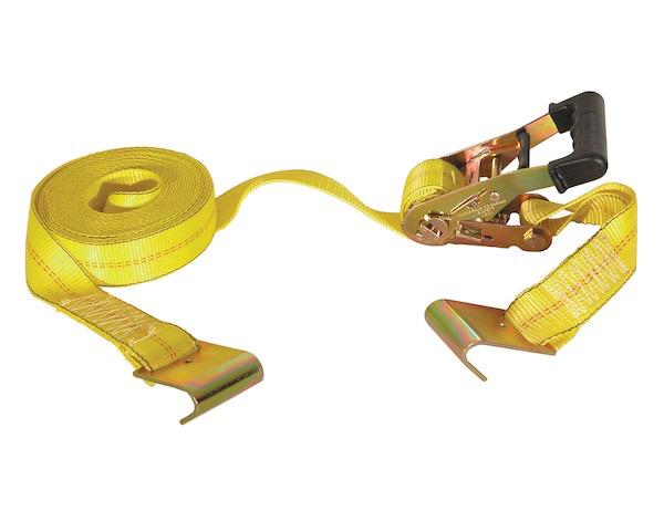 "Buyers Ratchet Strap 2"" Wide x 27 Feet Long, Flat Hooks, 10,000# Max."