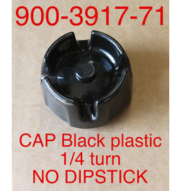 Bandit® Parts Cap Only Black Plastic NO DIPSTICK 1/4-turn for Metal Tanks