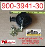 Bandit® Parts Locking Hydraulic Cap for Metal Tanks, Black VENTED, 900-3941-30