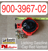 Bandit® Parts Locking Gasoline Cap Red Open Vented 900-3967-02