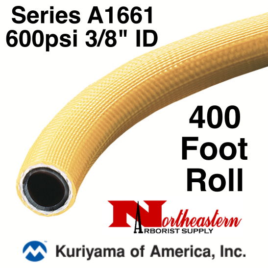 "Kuriyama Hose,  600 psi 3/8"" ID Yellow Tree - 400' ROLL"