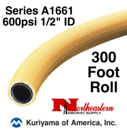 "Kuriyama Hose,  600 psi 1/2"" ID Yellow Tree 300' ROLL"