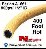 "Kuriyama Hose,  600 psi 1/2"" ID Yellow Tree 400' ROLL"