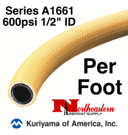 "Kuriyama Hose,  600 psi 1/2"" ID Yellow Tree - Cut Length, By The Foot"