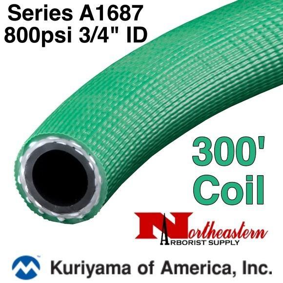 "Kuriyama Hose,  800 psi 3/4"" ID Green, 300' Coil"