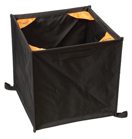 """Weaver Throw Line Storage Cube, 16"""" and collapses to a small triangle"""