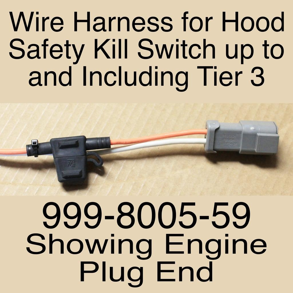 Bandit® Parts Wire Harness for Hood Safety Kill Switch up to and Including Tier 3