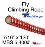 """Teufelberger Fly Climbing Rope, 7/16"""" x 120' - 5,400# MBS"""