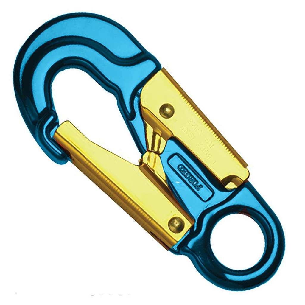 U.S. Rigging Snap, Aluminum, Double Locking Blue Anodized 27kn MBS