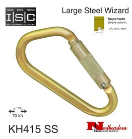 ISC Carabiner, Large Steel Wizard, 70kn MBS Supersafe
