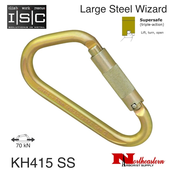 ISC Carabiner, Large Wizard, 70kn MBS Supersafe
