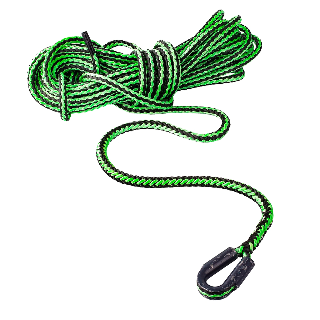 """NOTCH Hercules 3/8"""" x 200' Winch Line with Thimble, Tensile Strength 19,500lbs"""