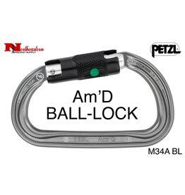 Petzl Carabiner, Am'D Lightweight asymmetric, Ball-Lock, 27kN Max.