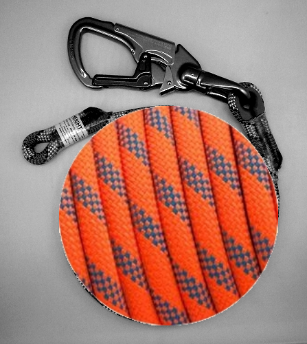 @ HEIGHT Kernmaster 15' Blue Tongue Positioning Lanyard with SH901 with Sewn Eye