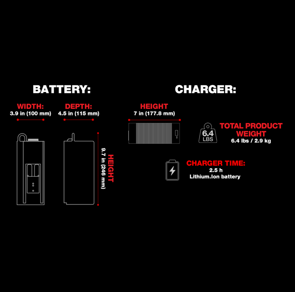 RONIN Battery, Charger and Cable