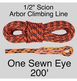 "Sterling 1/2"" Scion Arbor Climbing Line, Orange"