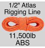 """Sterling Atlas Rigging Line 1/2"""" Orange 11,500ABS"""