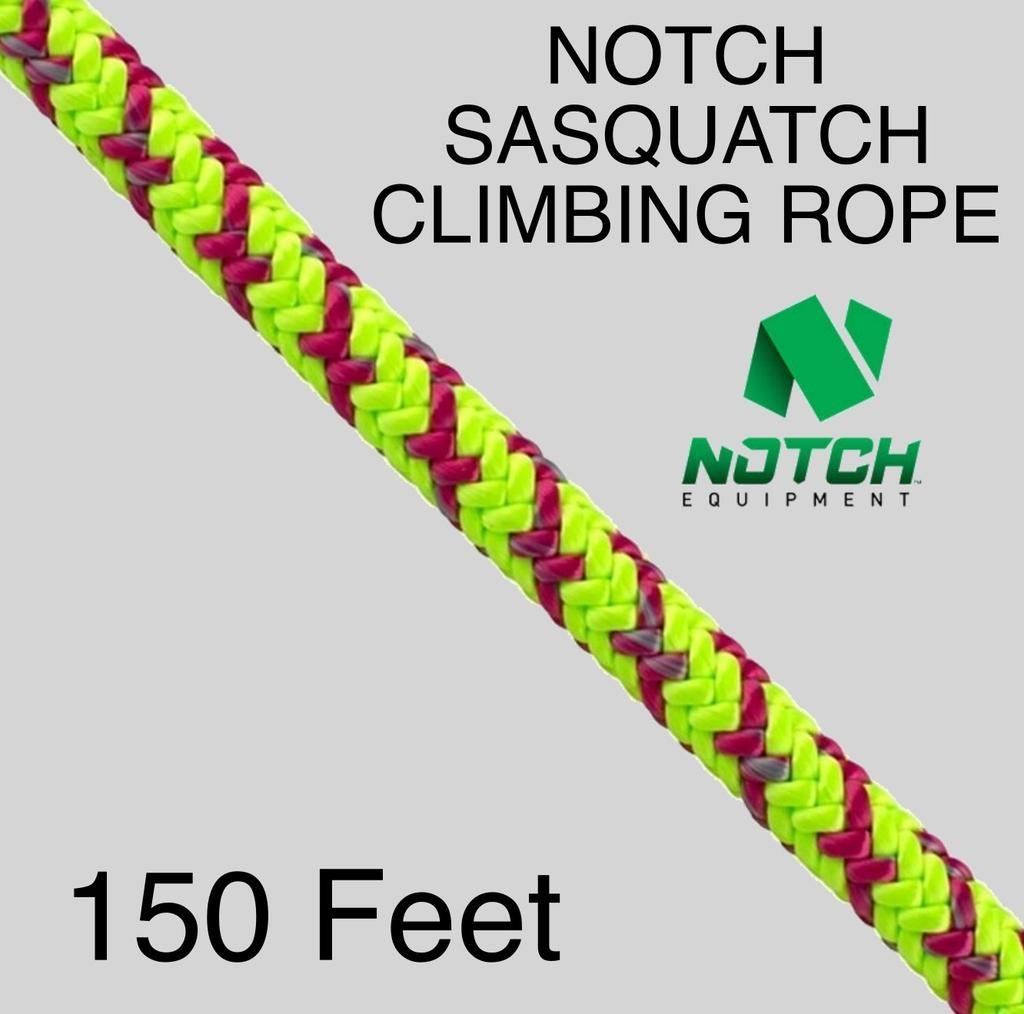 "NOTCH Sasquatch Climbing Rope 1/2"" 9,200lb 16 Strand"