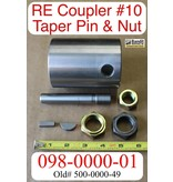 Bandit® Parts Feed Roller Coupler with #10 Pin and Nut for Large RE Motor # 500-0000-49