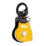 Petzl Spin L1D Pulley - Very high efficiency single pulley with one-way rotation and swivel