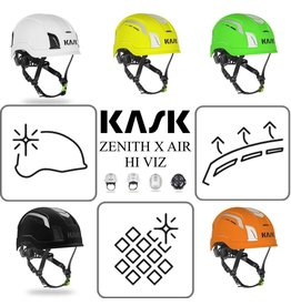 KASK ZENITH X AIR HI Viz Vented Helmets with chinstrap