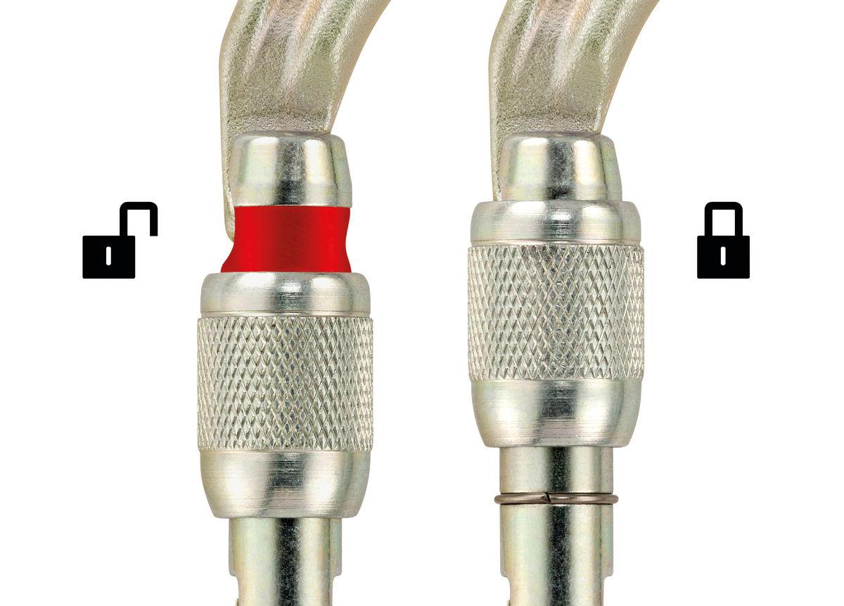 Petzl Carabiner, VULCAN, High-strength Steel Asymmetric, SCREW-LOCK, 40 kN Max.