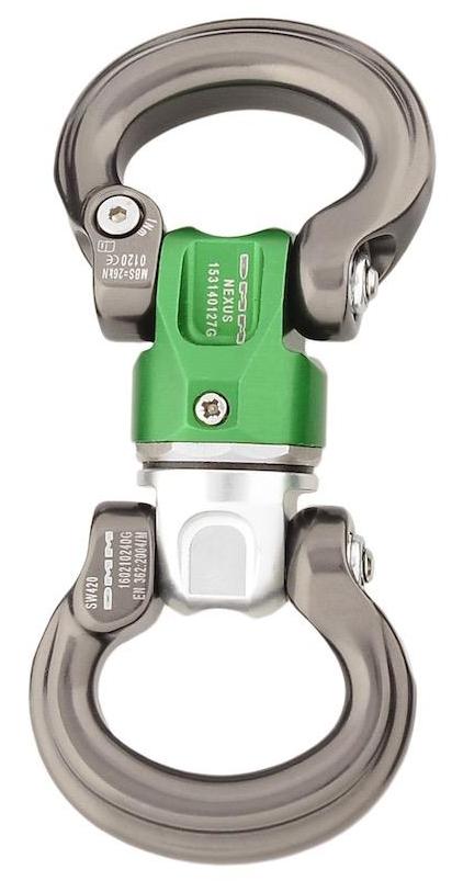 DMM Nexus Swivel L-L, Silver/Green/Titanium Color