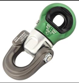 DMM Focus Swivel D, Small, Titanium/Green Color