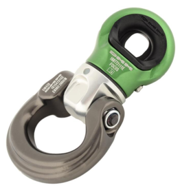 DMM Focus Swivel BOW, Large Silver/Green Color