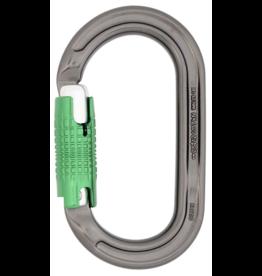 DMM Carabiner, Ultra O Locksafe, 25Kn Titanium/Green Color