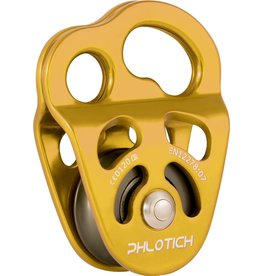"""ISC Pulley Phlotich Gold with Bushing 30kN 1/2"""" Rope Max."""