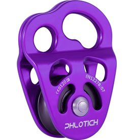 """ISC Pulley Phlotich Purple with Bushings 30kN 1/2"""" Rope Max."""