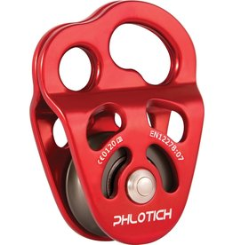 """ISC Pulley Phlotich Red with Bushings 30kN 1/2"""" Rope Max."""