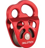 """ISC Pulley Phlotich Red with Bearings 30kN 1/2"""" Rope Max."""