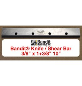 "Bandit® Parts Shear Bar 3/8"" thick x 1+3/8"" wide x 10"" Long, 259-3004-84"