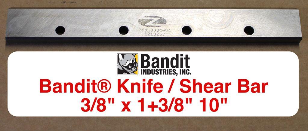 "Bandit® Parts Shear Bar 3/8"" thick x 1+3/8"" wide x 10"" Long, 259-3004-84"