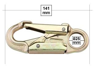 """U.S. Rigging Snap, NARROW THROAT 5+5/8"""" Locking 34kn MBS"""