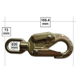 """U.S. Rigging SNAP, Forged Alloy Steel Locking Safety Snap 7+1/4"""" 34kn MBS with Swivel Eye"""