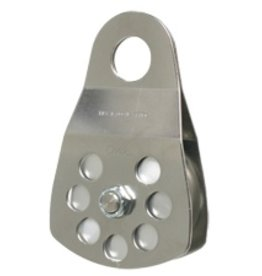 """CMI Block 5/8"""" Rope  Stainless steel side plates, 3"""" aluminum sheave, needle bearing, and stainless steel axle.  16,000 MBS"""