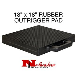 """OutRigger Pad 18"""" x 18"""" Constructed of 2"""" solid rubber with textured surface and built-in handle."""