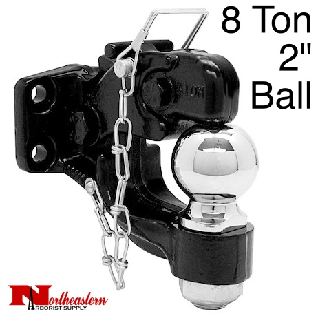 2 Ball Hitch >> 8 Ton Combination Hitch With 2 Ball