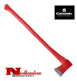 "CORONA AXE, 34"" Solid-core fiberglass handle with thick, molded poly jacket"